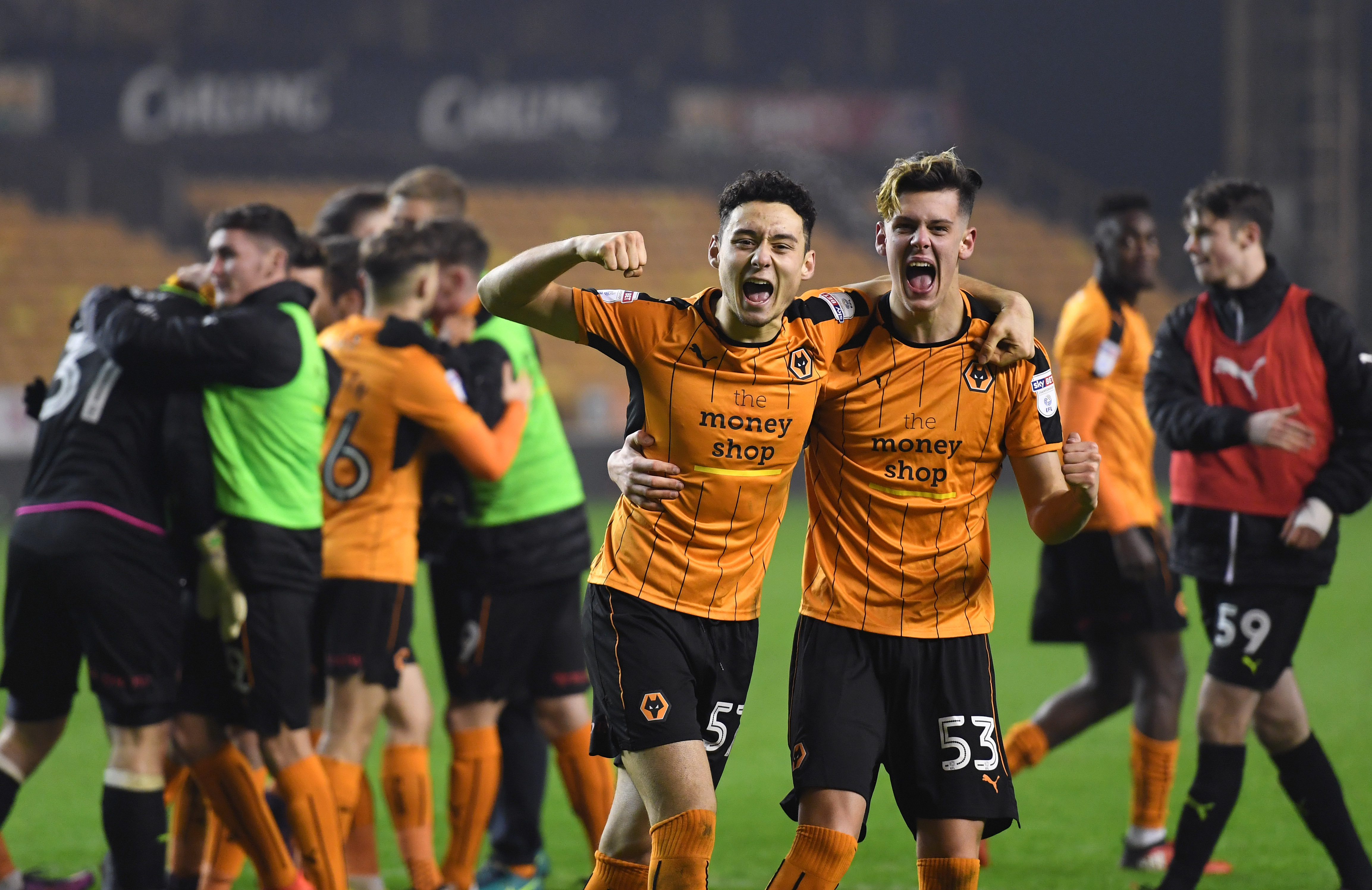 Image result for wolverhampton wanderers celebration 2017/18