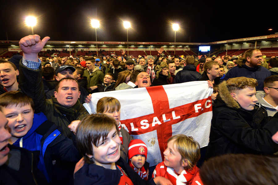 Image result for walsall fans celebrate