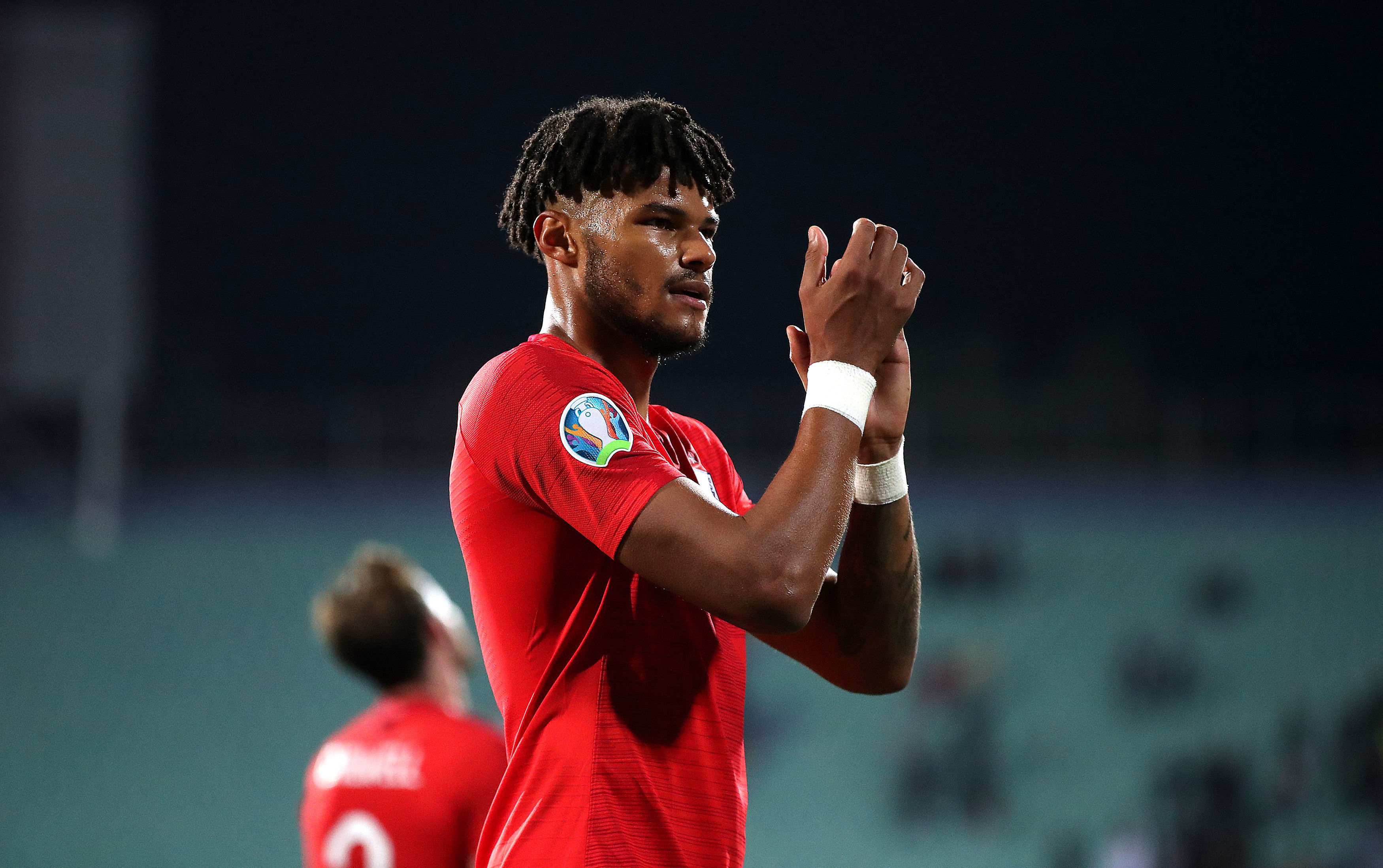 Mings playing for England