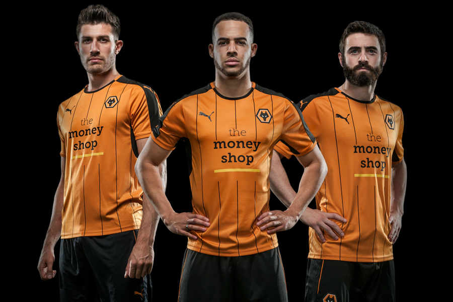 Wolves  2016 17 kit revealed  Here s your first look at new shirt - and  controversial Money Shop sponsor  8a148e6b6